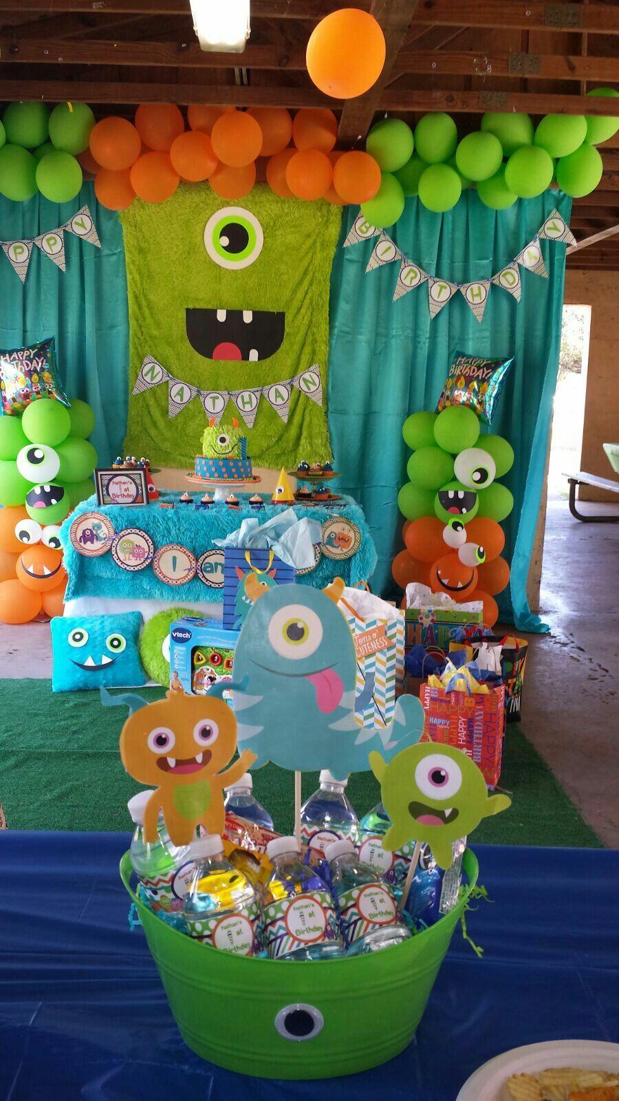 Nathans Monster Bash Monster 1st Birthdays Boys 1st Birthday Party Ideas Baby Boy 1st Birthday Party