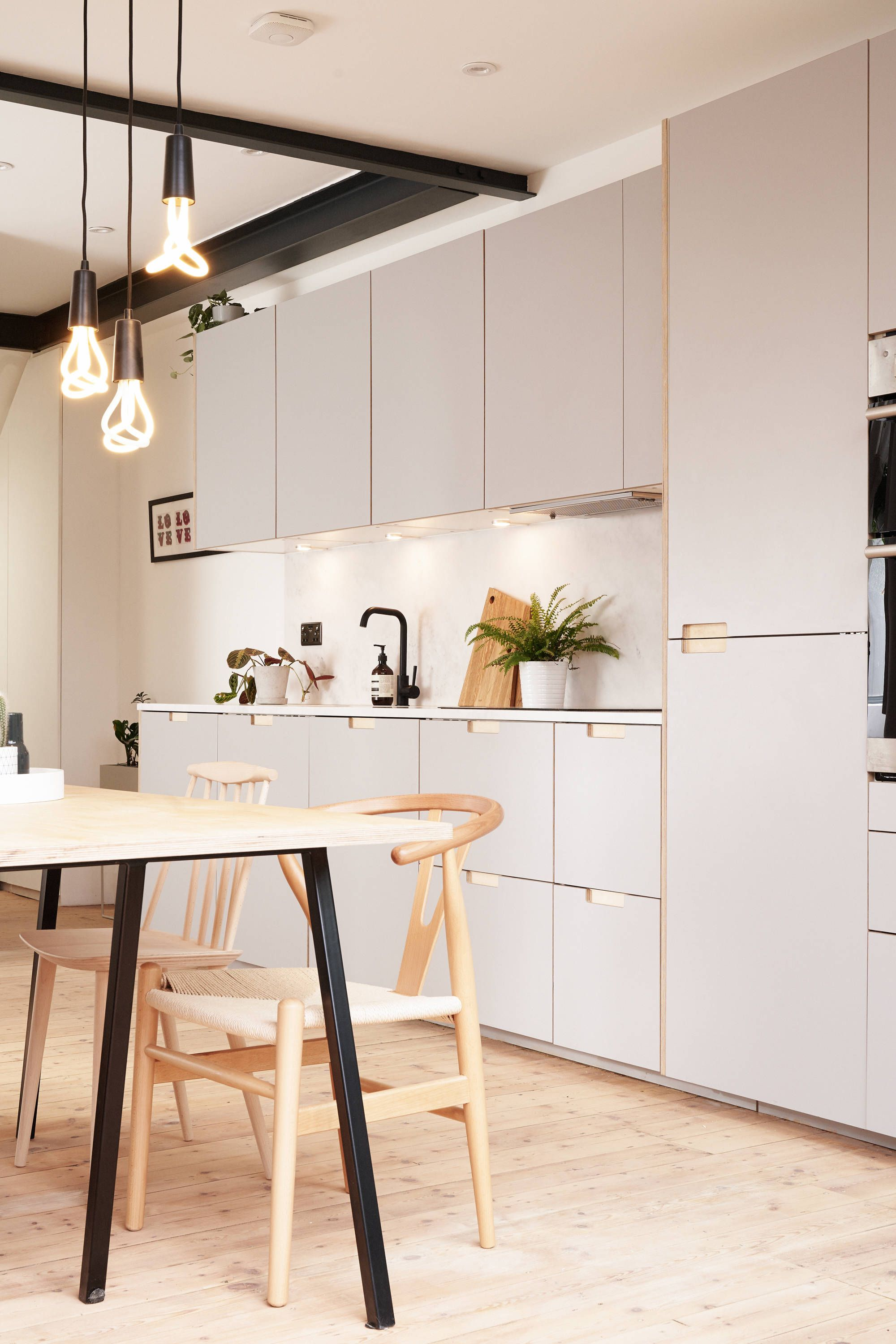 Formica faced plywood kitchen in Fox Grey by Plykea
