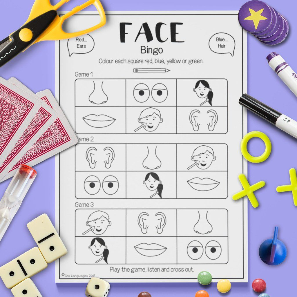 Face Math Worksheet