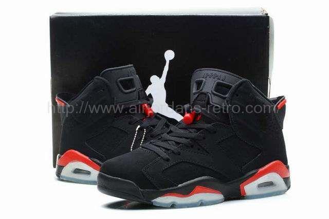 Discount Authentic 385664-023 Mens Nike Air Jordan 6 Retro White/Infrared-Black