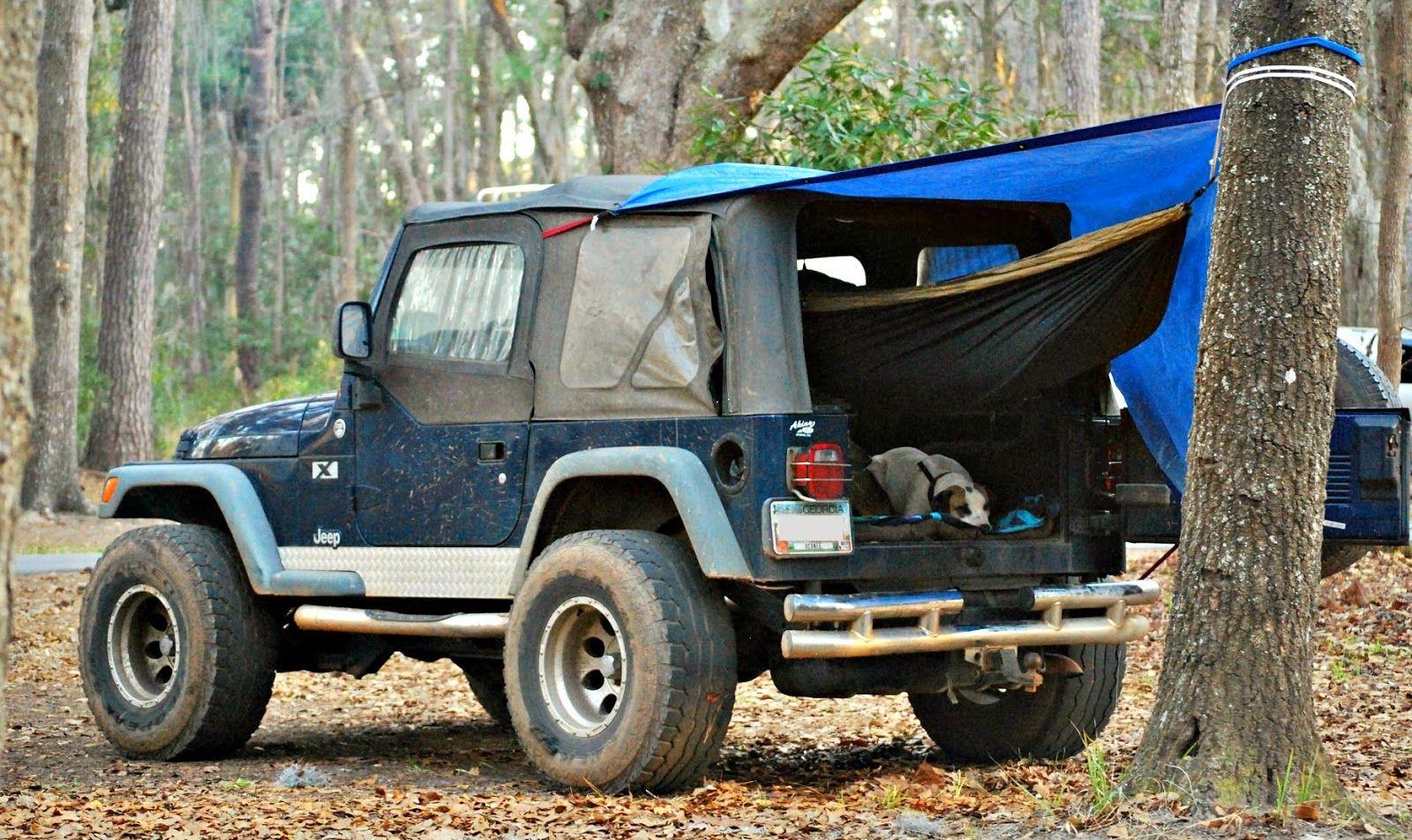 Jeep And Hammock Camping