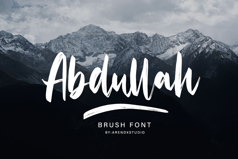 Abdullah Font By Arendxstudio Creative Fabrica Desain Logo Desain