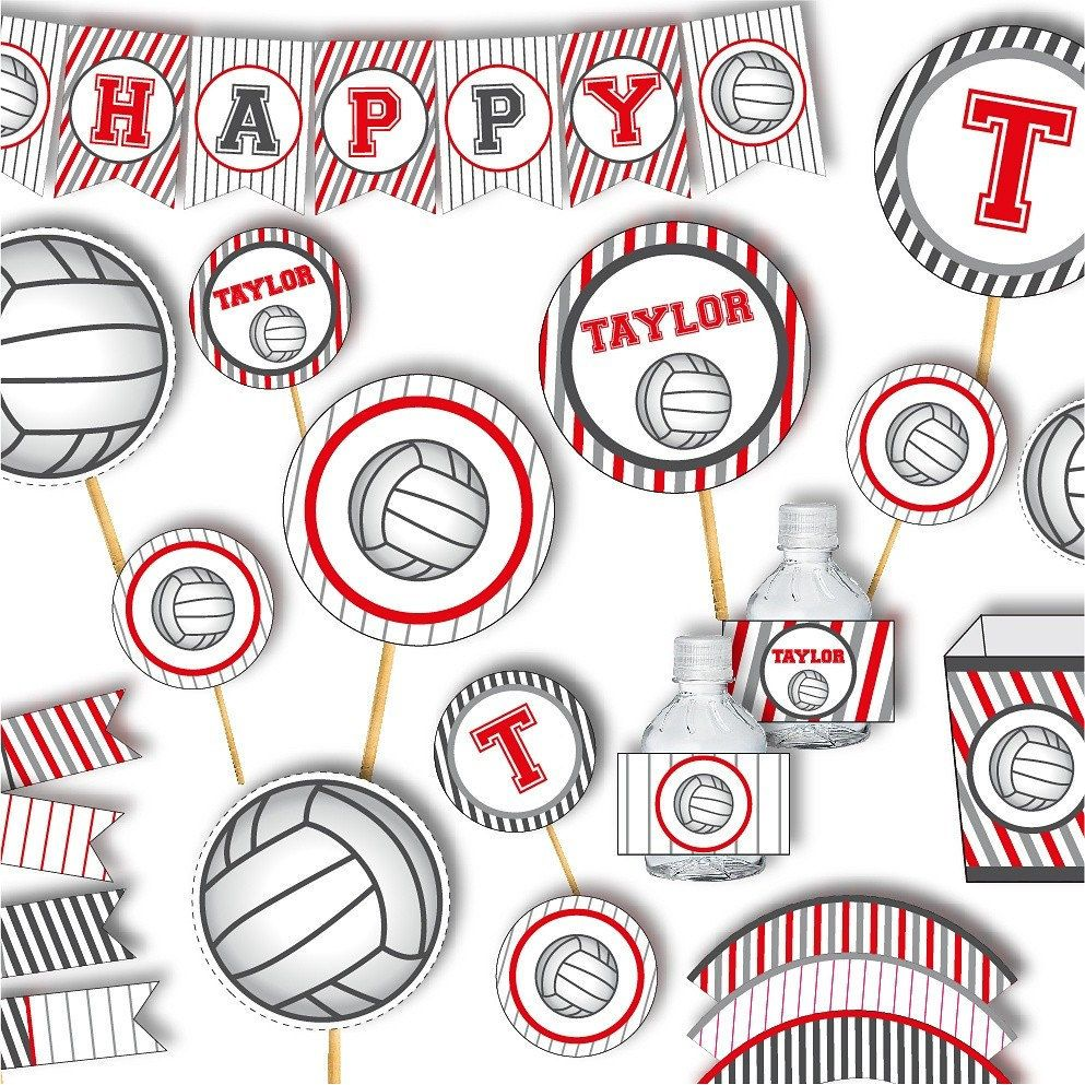 Pin By Cammie Moree On Volleyball In 2020 Volleyball Party Decorations Volleyball Party Volleyball Birthday Party