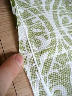 Easy No Sew Table Runner :: Run a stream of FABRIC GLUE down the crease