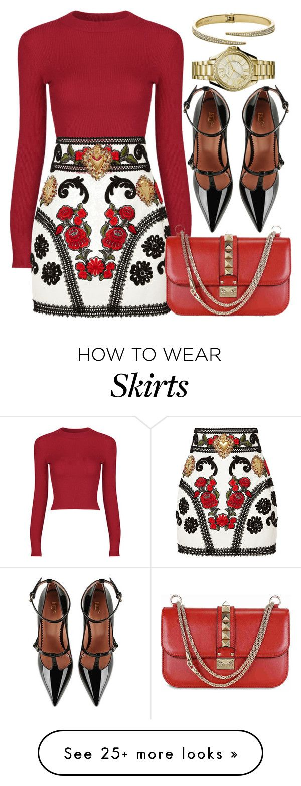 """""""RED"""" by monmondefou on Polyvore featuring Dolce&Gabbana, Valentino, RED Valentino and red"""