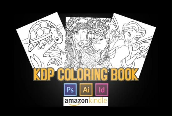 Saramaggio I Will Design Amazon Kdp Coloring Book In 1 Day For 10 On Fiverr Com Video Video Coloring Books Disney Coloring Pages Christmas Coloring Pages