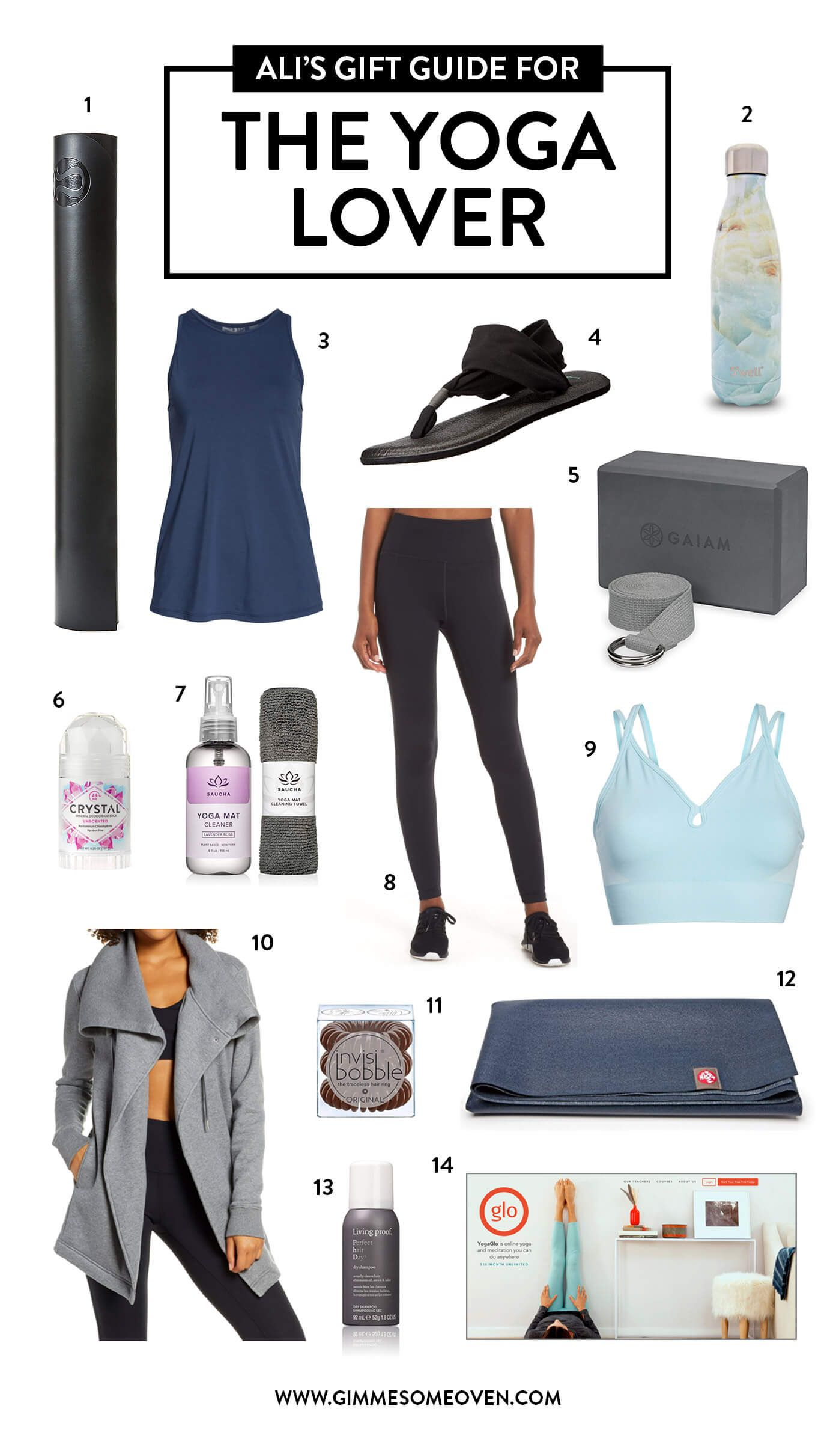 Holiday Gift Guide For THE YOGA LOVER | Fun gift ideas for the yogis in your life, including apparel...