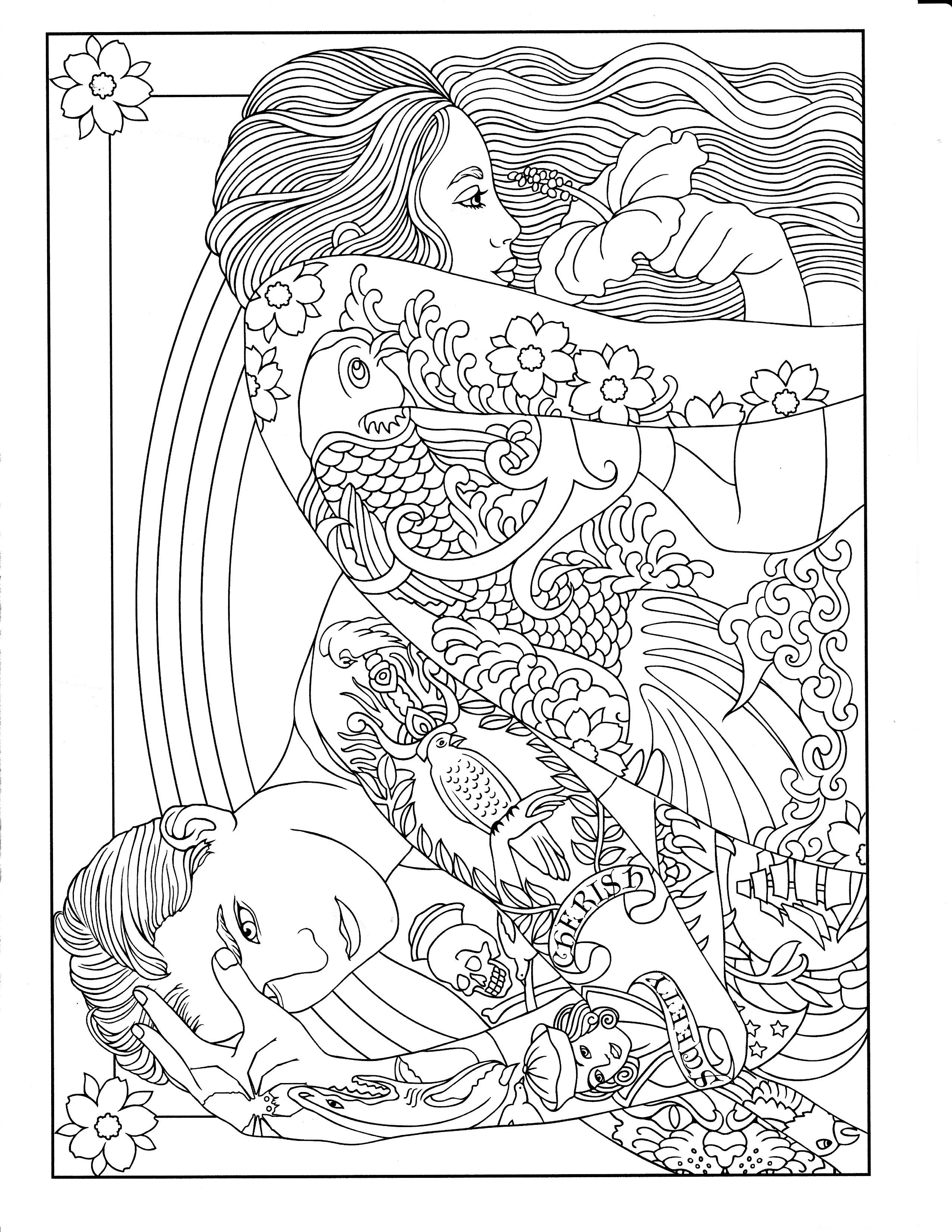 Body Art Tattoo Designs Dover Design Coloring Books Marty Noble Designs Coloring Books Coloring Books Mandala Coloring Pages