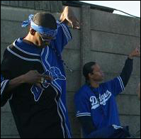 Compton Crips repping their set and throwing hand signs | Tony in