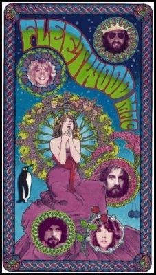 Fleetwood Mac 1998 The Chain Concert Poster. Artist: Bob Masse!Art nouveau