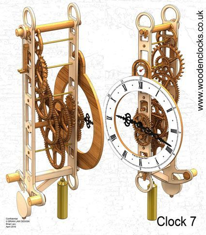 Wooden Clock Gears Cnc