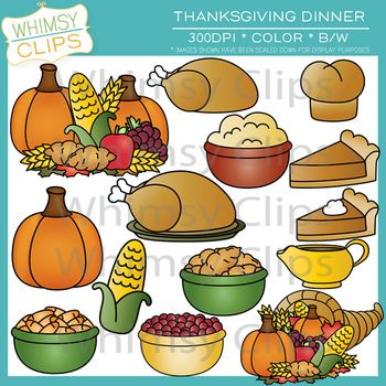 Thanksgiving Dinner Clip Art Thanksgiving Clip Art Cute Food Art Clip Art