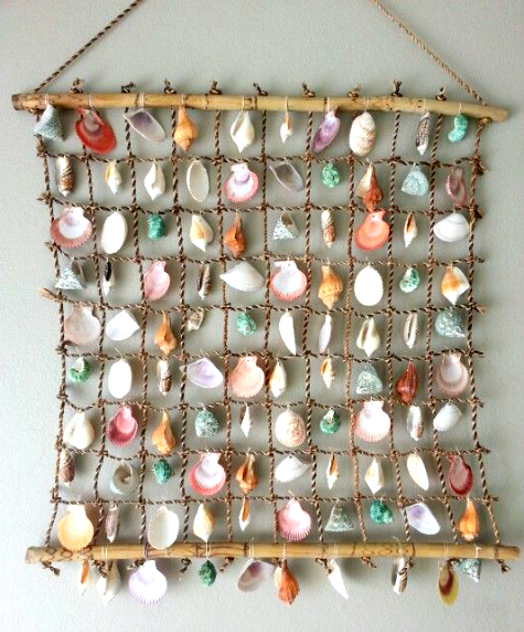 Sea Shell Wall Hanging Ideas Featured on CC httpwww