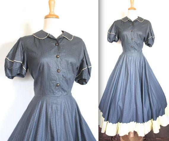 Kleid 40er jahre lang