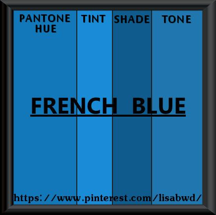 Pantone Seasonal Color Swatch French Blue Pantone Color Pantone Blue Colour Palette