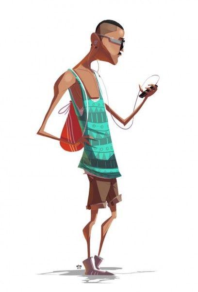 Ilustraciones de personajes por Ido Yehimovitz (3)