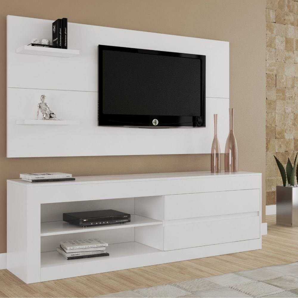 Rack com Painel Top Siena Móveis Branco Tvs, Ceiling