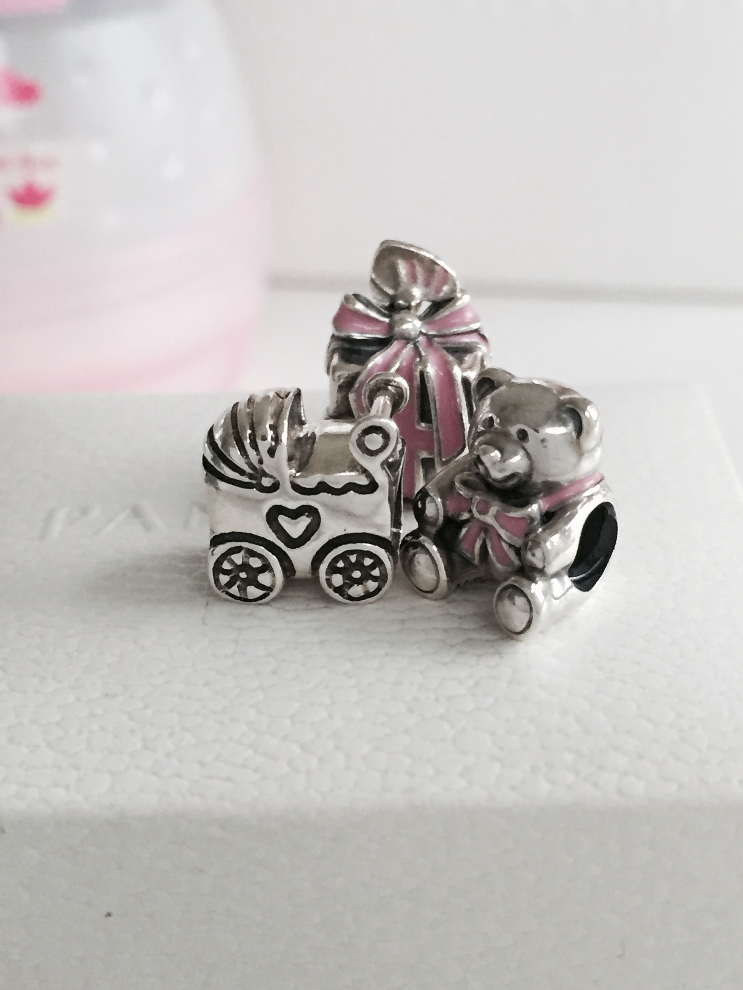 2746c3dd0 Cute charms to celebrate a newborn little baby girl and the joy of  motherhood. #PANDORA #PANDORAcharm