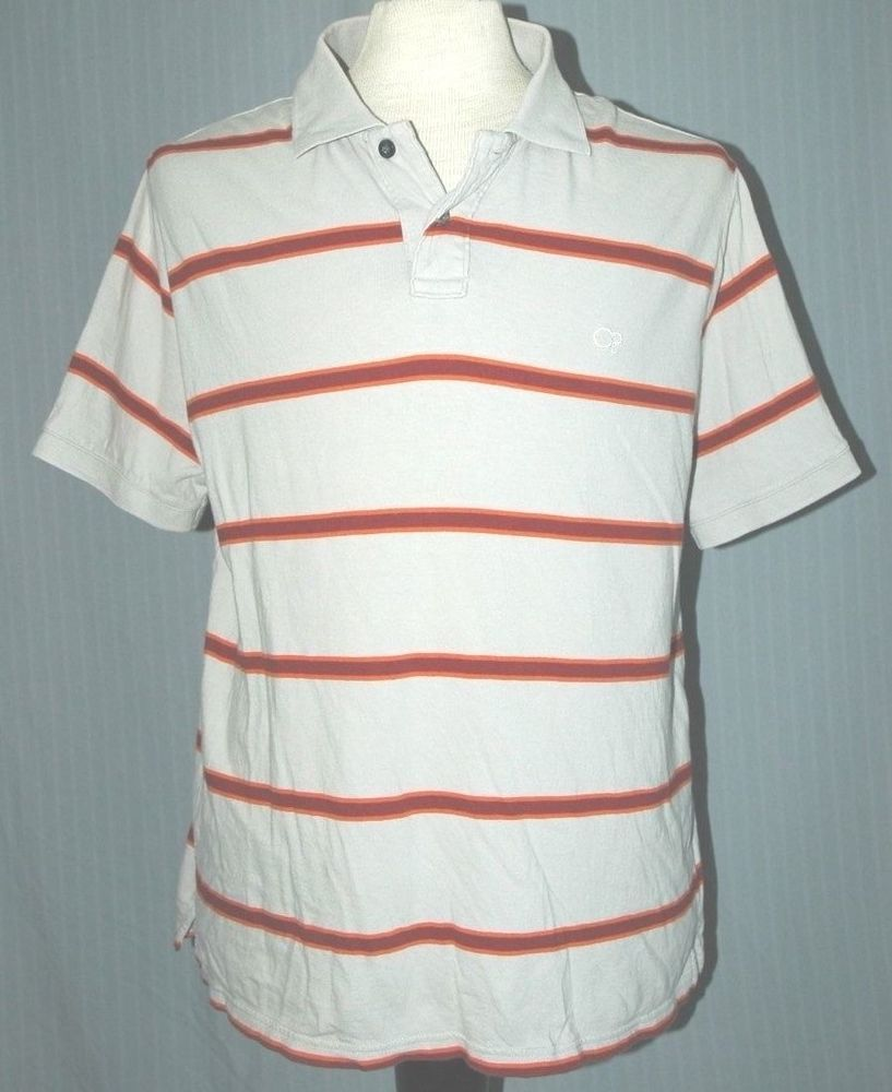 Vintage 1980s Op Ocean Pacific Adult Large Gray Red Striped Polo
