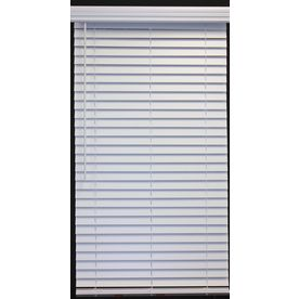 Allen Roth White Faux Wood 2 In Slat Room Darkening Cordless Window Horizontal Blinds Common Blind Width 34 Actual Size 33 5 X 64