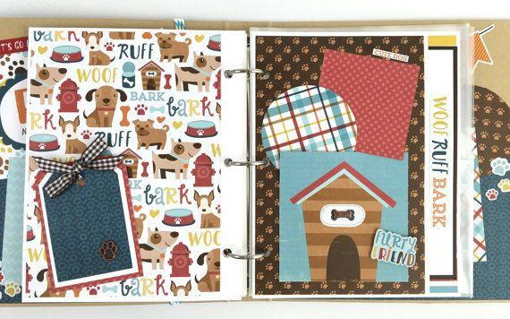 Dog Mini Album Kit Or Premade Scrapbook Album Pet