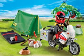 Bike And Tent Toys Hobbiescouk Trolleyed Playmobil