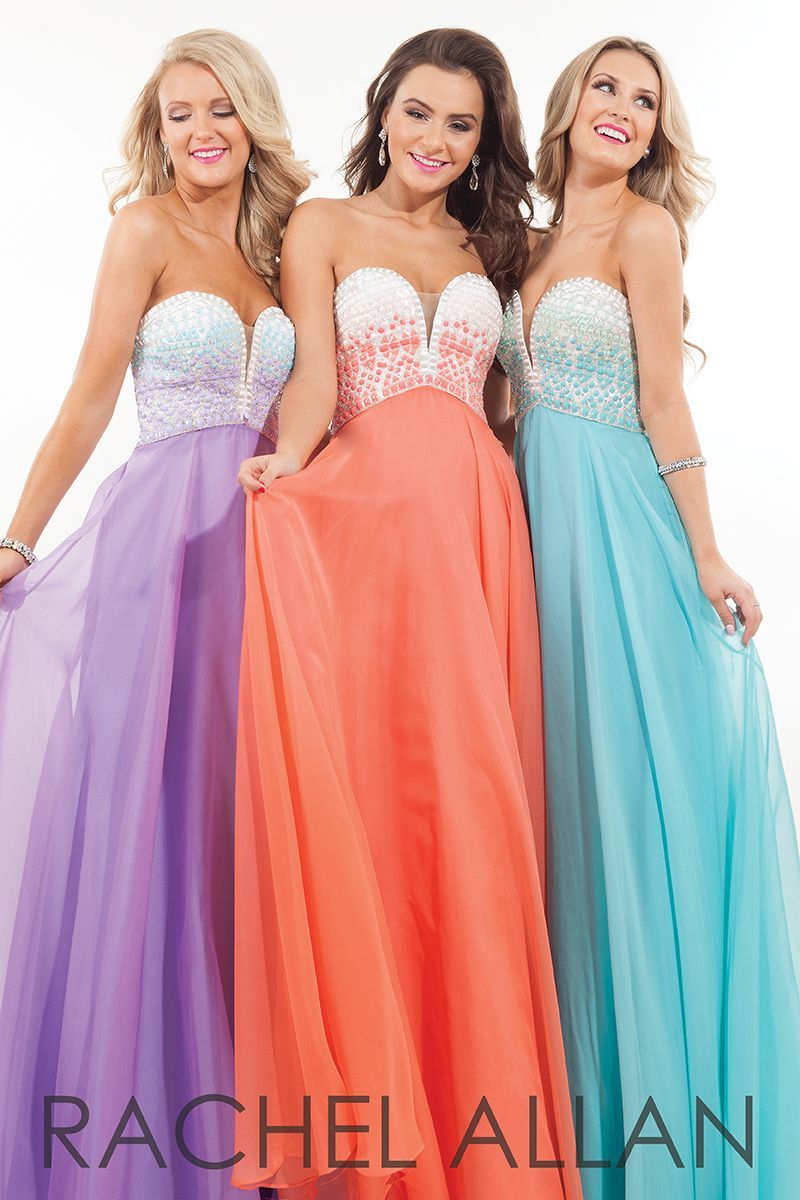 chiffon dress with strapless sweetheart beaded top and back