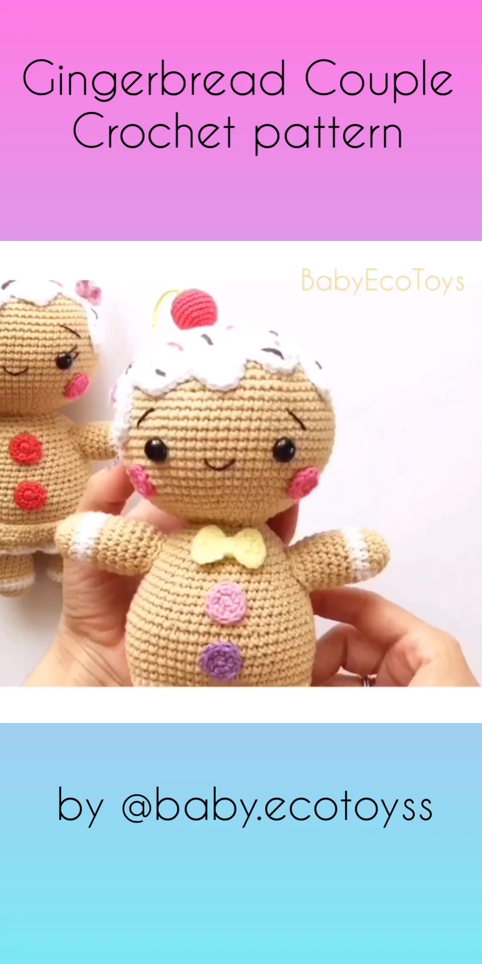 Photo of Amigurumi pattern / Crochet pattern PDF Gingerbread man and girl couple / Christmas pattern