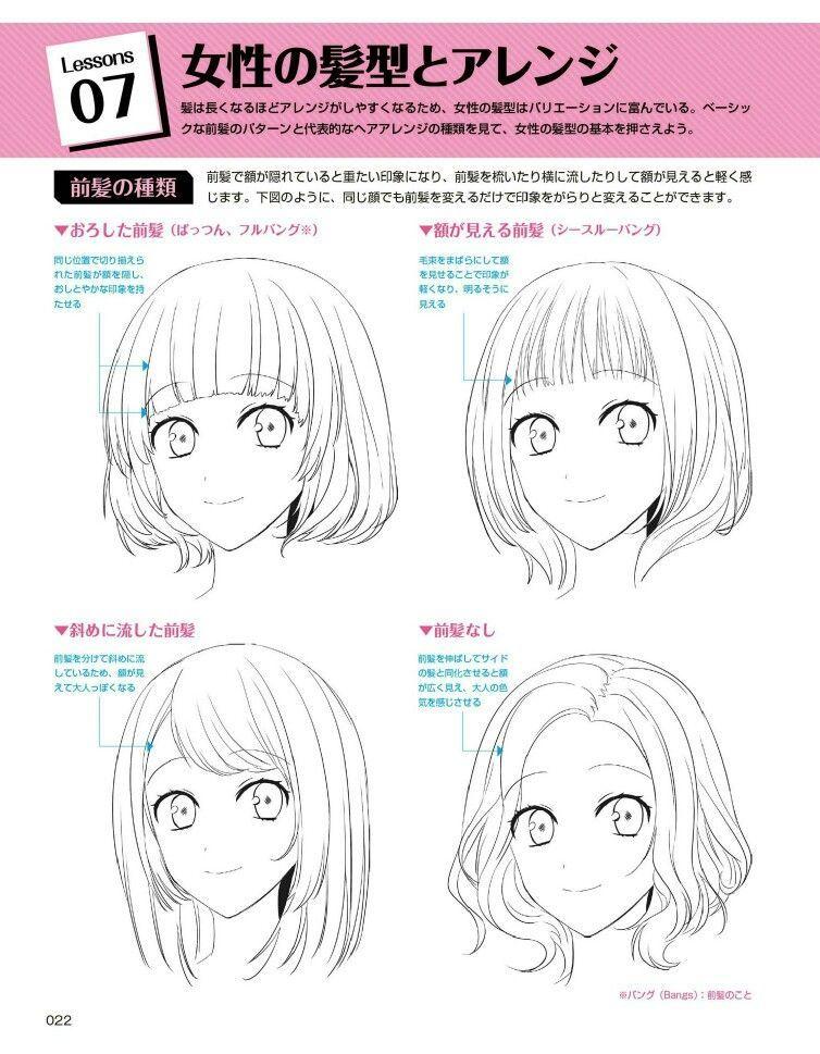 How To Draw Bangs Anime : bangs, anime, Tugba, Shaikh, Drawings, Hair,, Manga, Anime