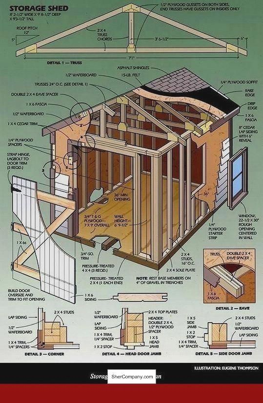 Free Plans For A 10 X 12 Storage Shed and PICS of Plans To ...