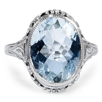 The Ibis Edwardian Engagement Ring//