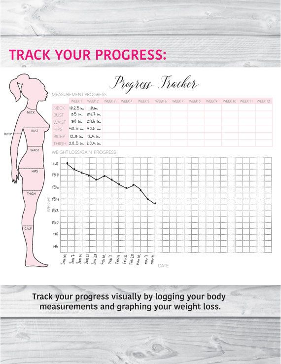 Fitness Planner Fitness Journal Health and Fitness Planner