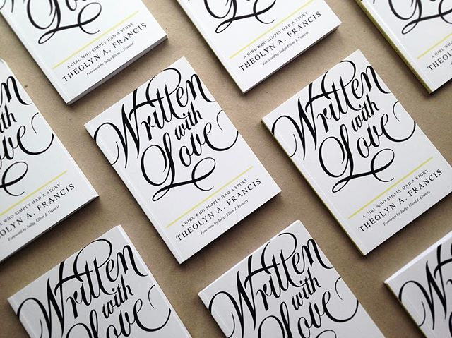 WEBSTA @ hustwilson - Book Cover Design for  @theolynfrancisWritten with Love - A girl who simply had story