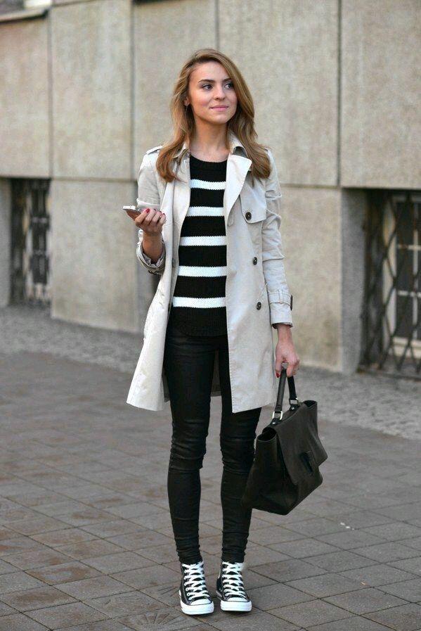 black converse coat