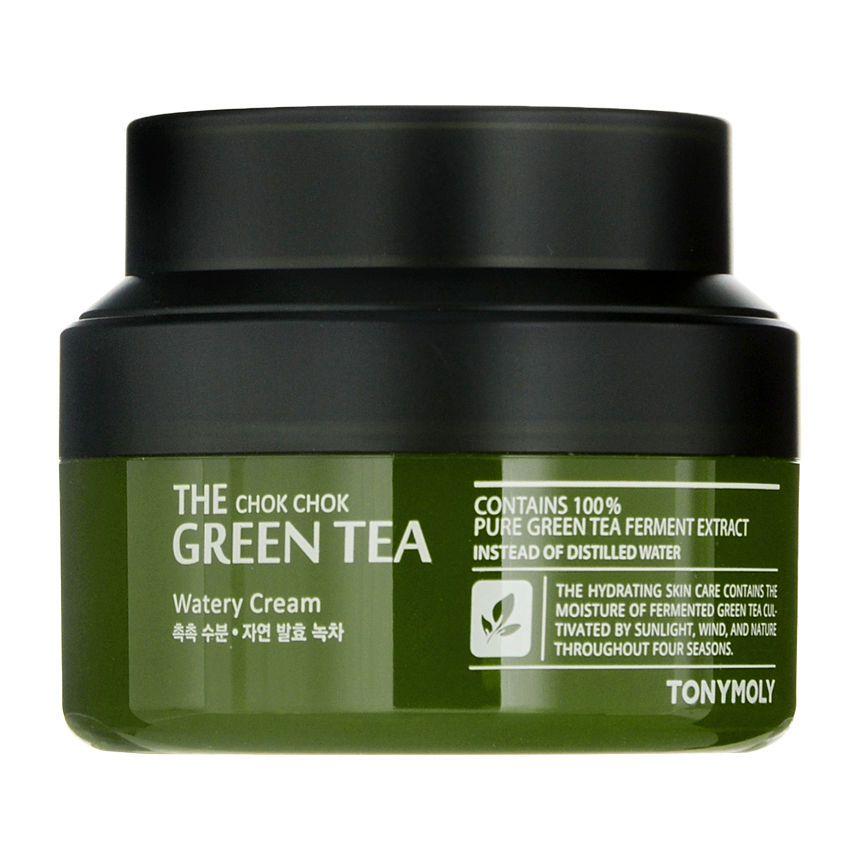 Tonymoly The Chok Chok Green Tea Watery Cream 60ml Yesstyle Skin Moisturizer Skin Shimmery Eyeshadow