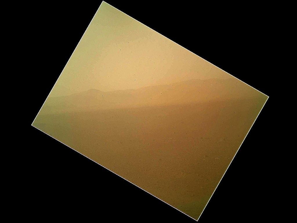 This is the first color picture taken from the Mars Curiosity Rover. These images have traveled ~78,341,212 Km to Earth from Mars
