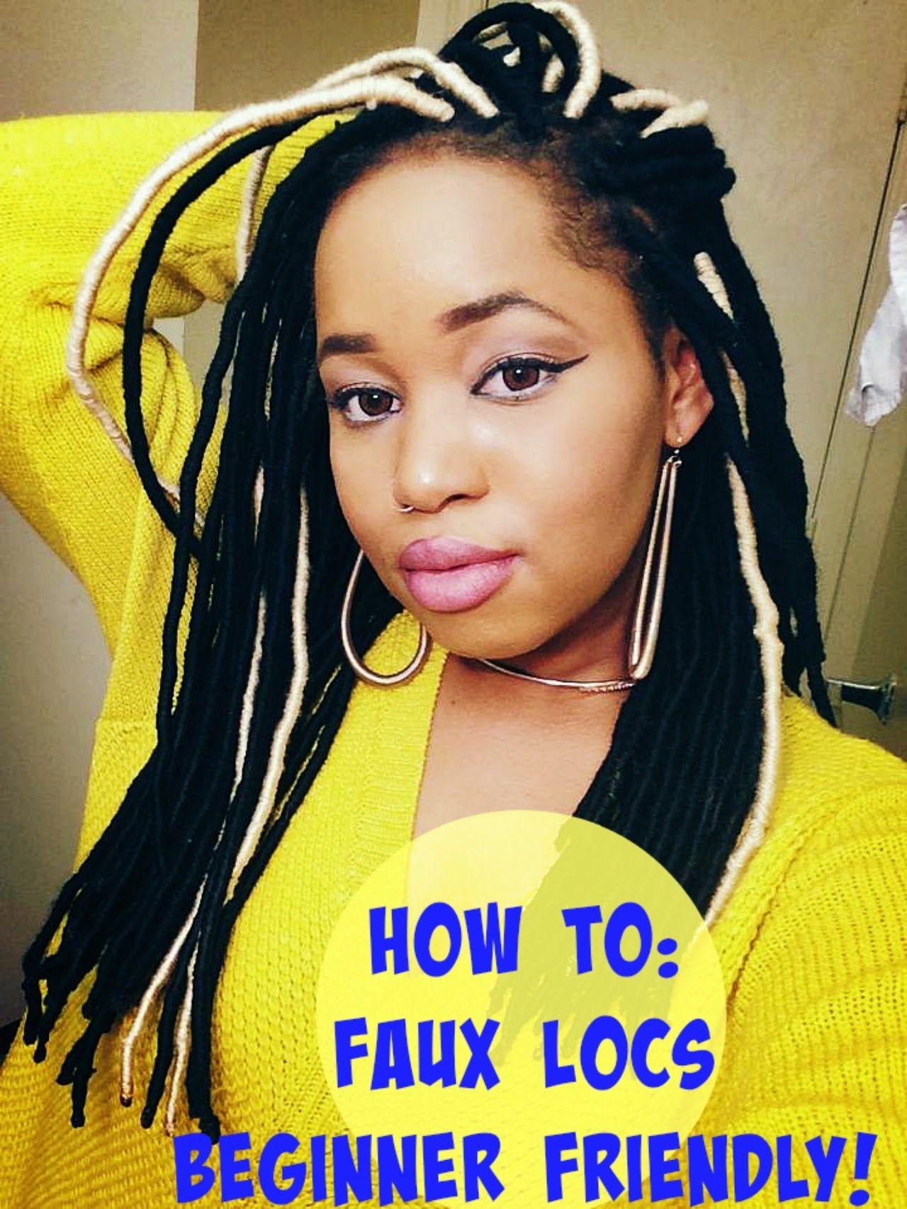 How To Faux Locs Yarn Dreads Beginner Friendly