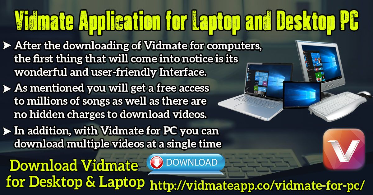 Vidmate for PC and Laptop (Windows XP, 7, Vista, 8, 8.1