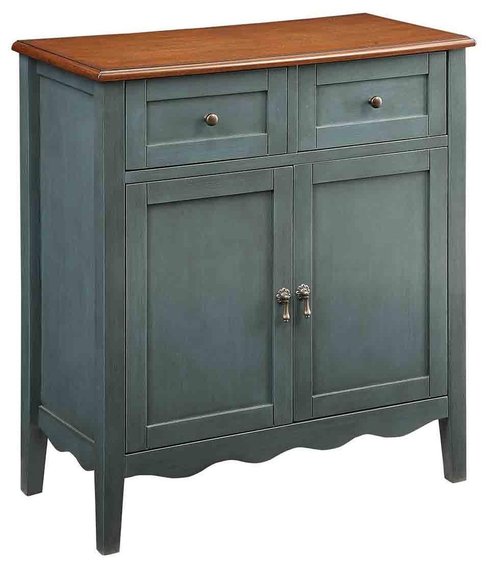 Best Vintage Blue Console Chest W Scalloped Apron Furniture 400 x 300