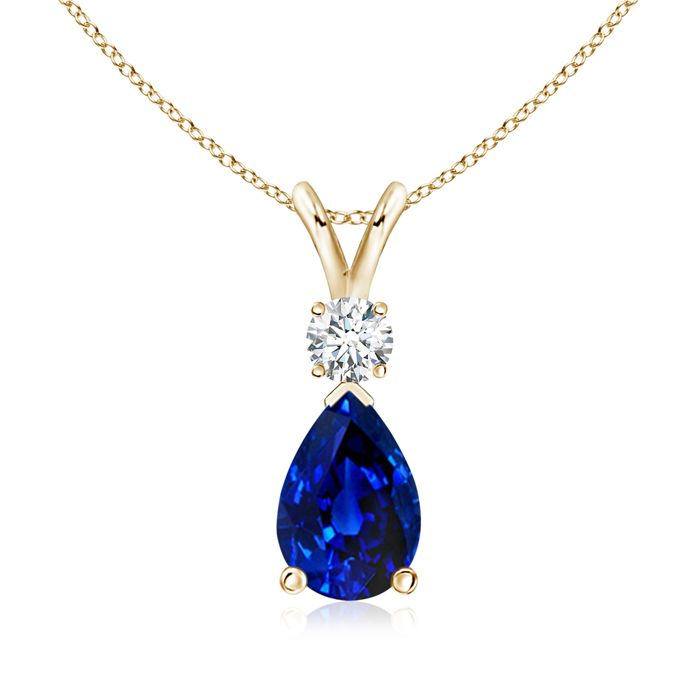 Angara Blue Sapphire Solitaire Necklace in 14K Rose Gold UdRca4pER