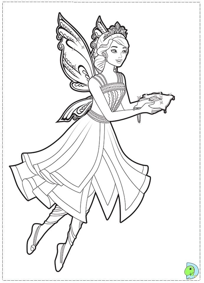 Coloring pages of fairy princesses for Princess fairy door