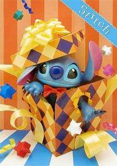 Disney Stitch Birthday Gift Box 3D Lenticular Greeting Card