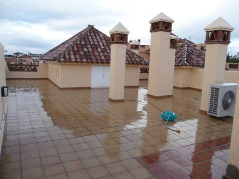 A Waterproof Terrace Or Home With No Leaks Nor Humidity S And A Happy Client Leaky Toilet Outdoor Decor Terrace