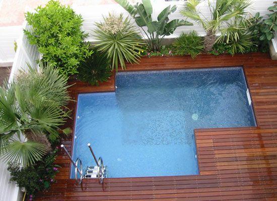 Resultado de imagen para decorar con plantas alrededor de for Decorar piscina elevada