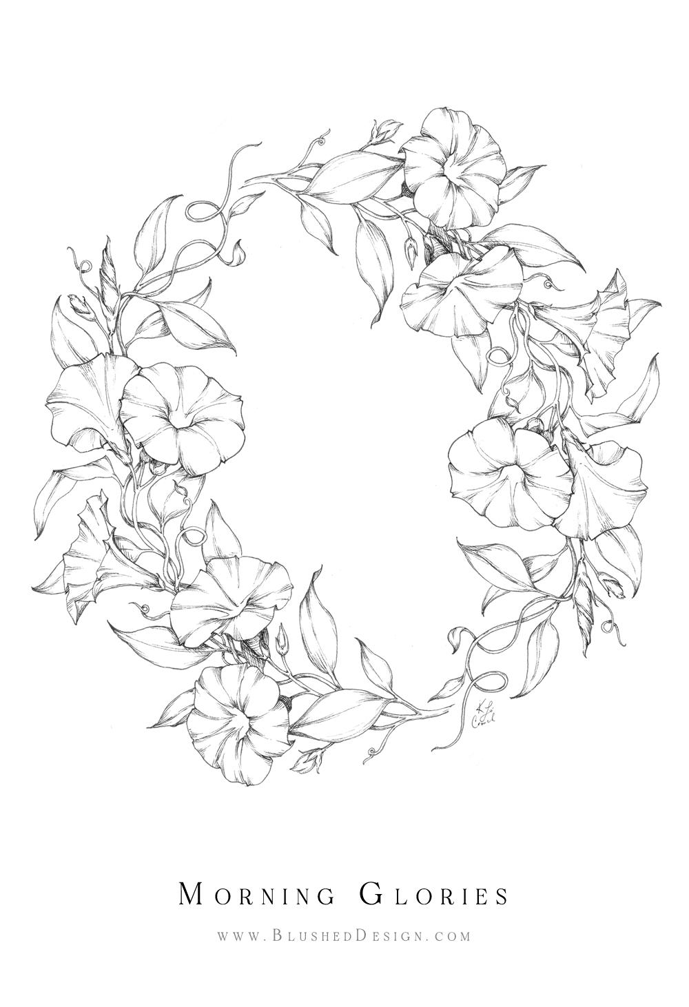 Inktober Flower Drawings 2019 — Blushed Design in 2020