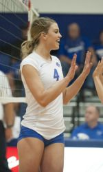 Oliver Named Mountain West Volleyball Player Of The Week Volleyball Players Female Athletes Women Volleyball