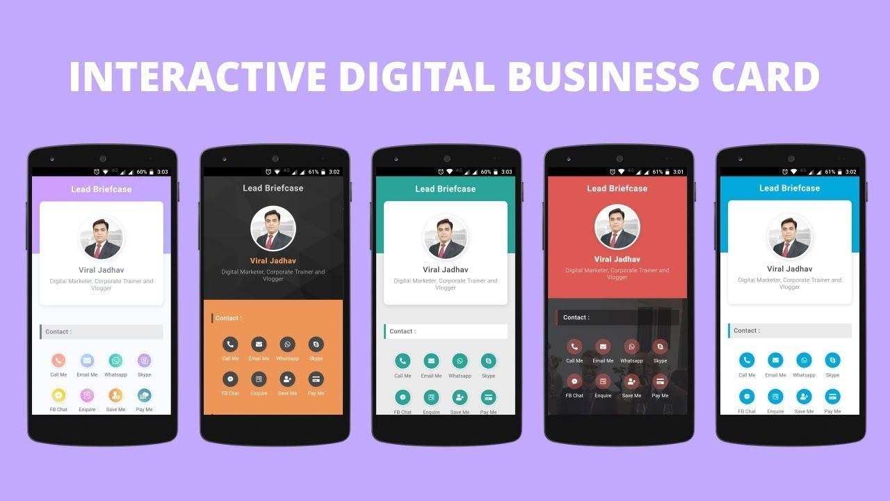 Digital Business Card Free Digital Business Card Free Business Cards Business Cards