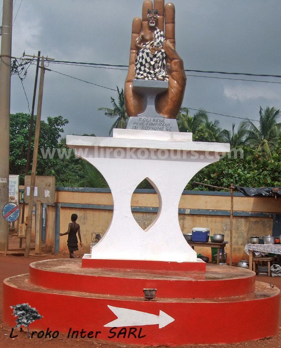 Entrance to Glidji village in Togo