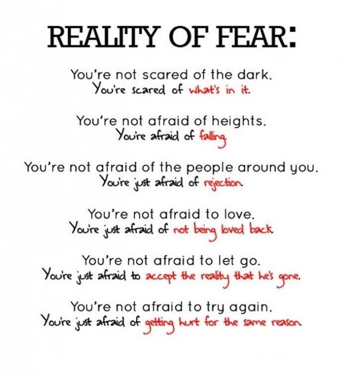 Relinquishing Fear Words Inspirational Quotes Quotes