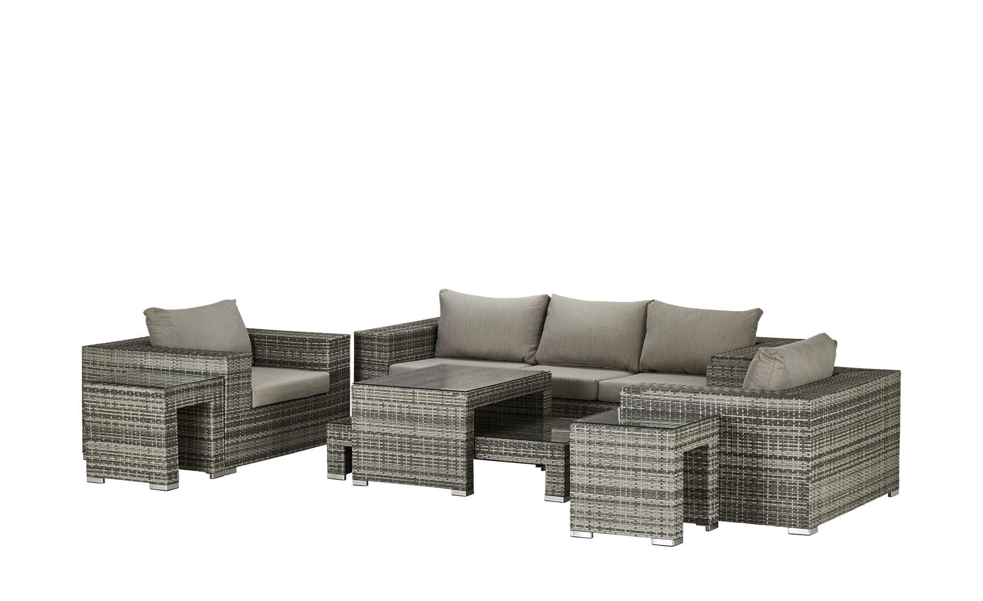 A Casa Mia Geflecht Lounge Milano Grau Stahl Pulverbeschichtet Pe Geflecht Garten Gartenmobel Nach Materi Outdoor Furniture Sets Furniture Sets Home Decor